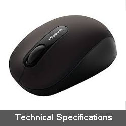 Microsoft Bluetooth Mobile Mouse 3600 Technical specifications